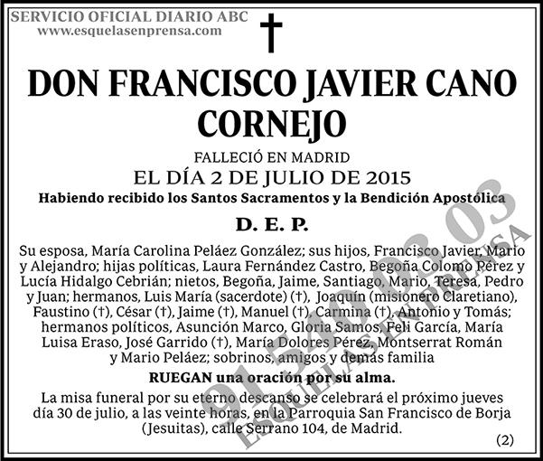 Francisco Javier Cano Cornejo